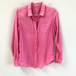 Lilly Pulitzer Anna Maria Shirt Button Down Pink